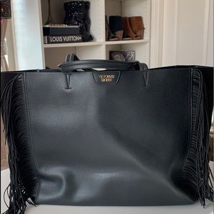 Victoria's Secret Fringe Black Tote